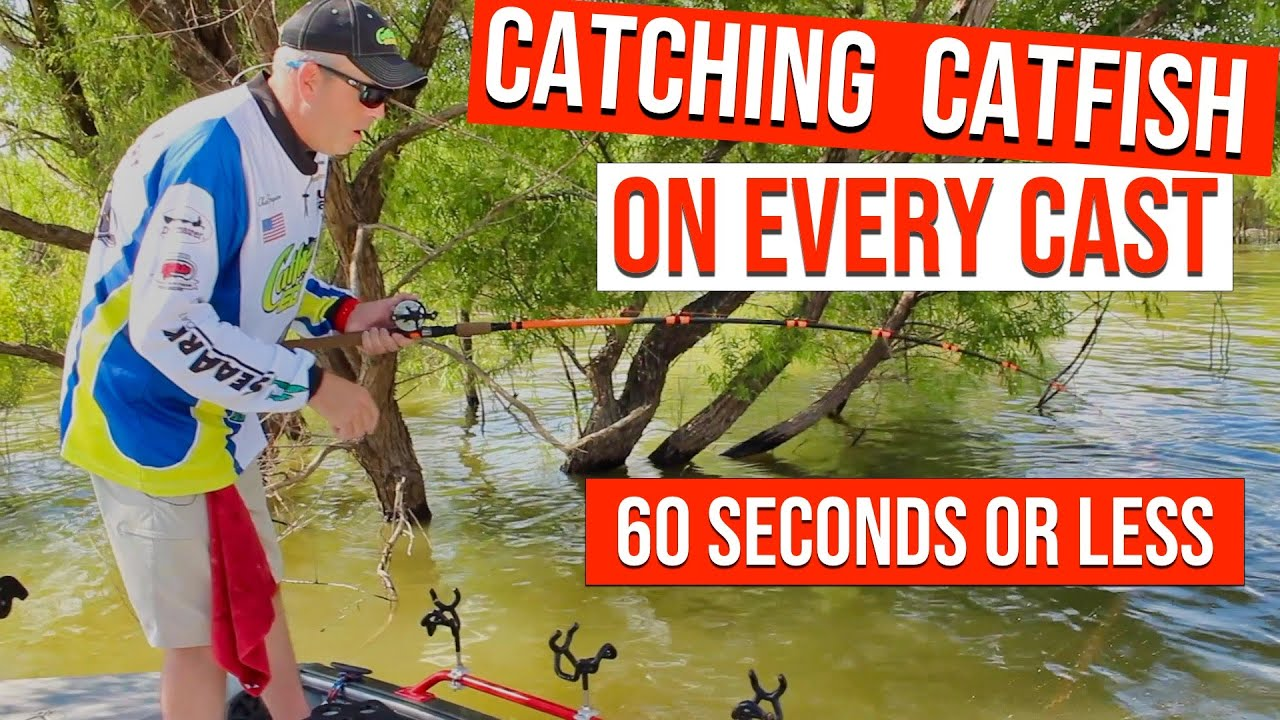 Catch Catfish In 60 Seconds Or Less (EVERY CAST)