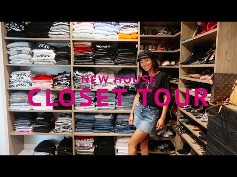 Closet Tour  NEW HOUSE UPDATE  Aimee Song