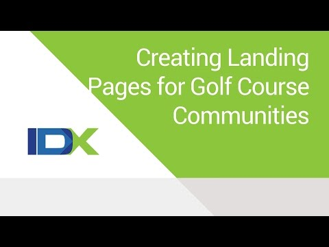How to Create Landing Pages for Golf Course Communities