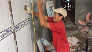 Hướng dẫn dán gạch trên tường cũ đơn giản ai cũng làm được.