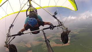 Quadriplegic hang glides with Mom and Dad for 1st time. (revised)