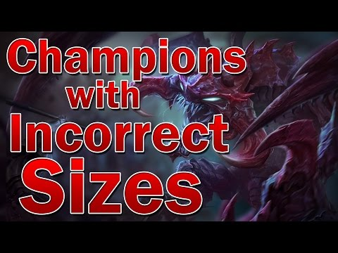 Champions with Incorrect Sizes