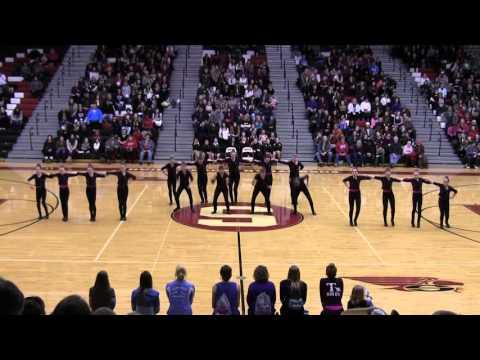 Little Chute Middle School Dance Team Chute-ing Stars Kick Grease Lightning