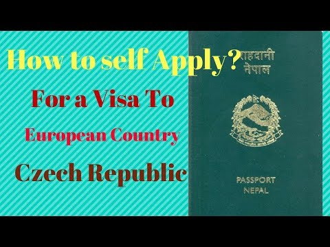How to self apply Visa to Czech Republic from Nepal?