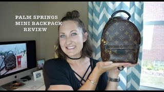 Louis Vuitton Palm Springs Mini Backpack Review, WIMB