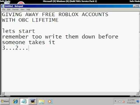 free roblox accounts 2009