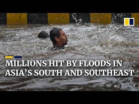 Deadly monsoon floods affect over 4 million across South and Southeast Asia