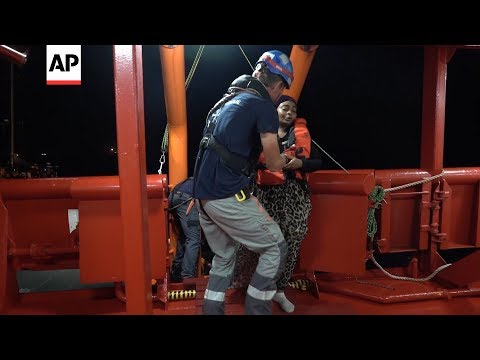 Med Rescue: Migrants moved from boat in thunderstorm off Libya