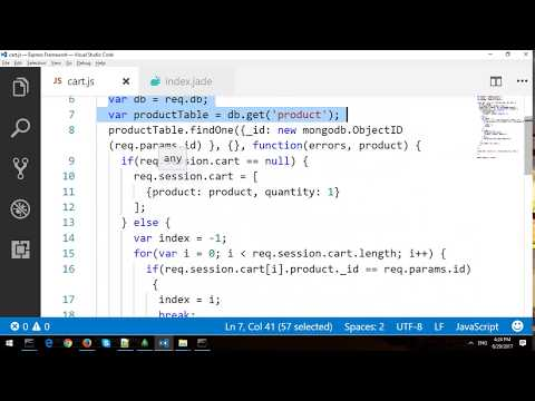 Building NodeJs Shopping Cart with Express Framework and MongoDB - Part 1