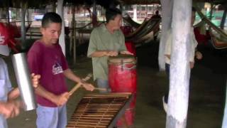 playing the marimba in pochomil nicaragua part 2