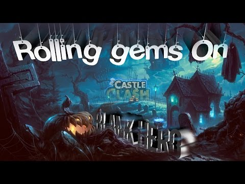 Castle Clash: Rolling Gems On Main Account | Amazing Halloween Luck?