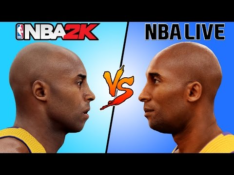 KOBE BRYANT NBA 2K vs NBA LIVE [2000 - 2016] 🏀