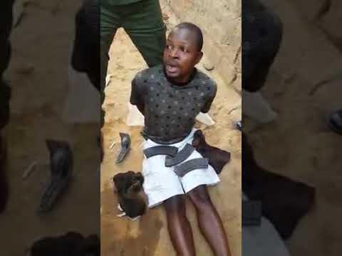 Interrogatoire à La Congolaise. Un Criminel Entre Les Mains Des Militaires Et Policiers Congolais.