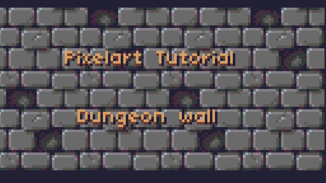 Tutorial: Pixel art wall texture - YouTube
