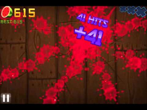 Over 1000 High Score Fruit Ninja Arcade Mode N