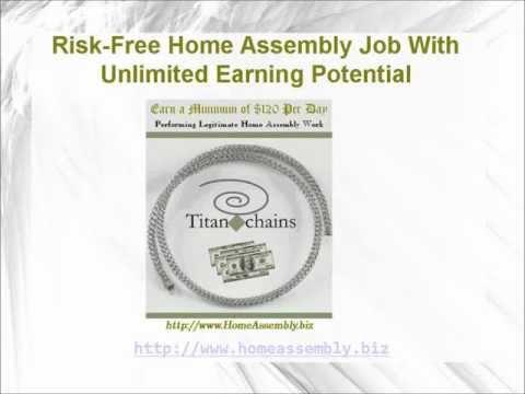 Legitimate Home Assembly Job Devoid of all Risk