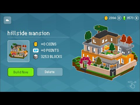 Block Craft 3D : Building Simulator Games For Free Gameplay #533 (iOS & Android) | Hillside Mansion