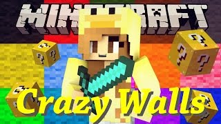 I CANT TAKE THIS!! | CRAZY WALLS! Minecraft Minigame