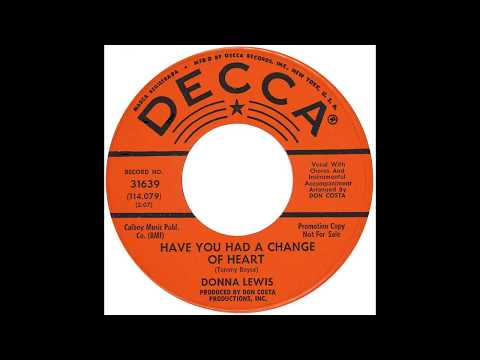 "Donna Lewis - ""Have You Had A Change Of Heart"" (Decca) 1964"