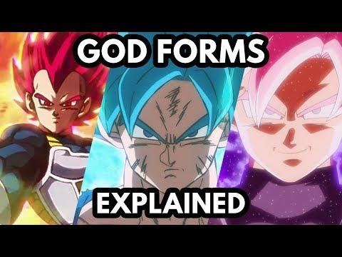 Super Saiyan God Forms Explained