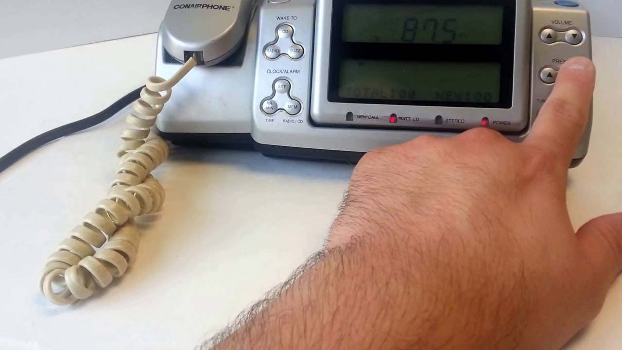 Conair Cid500 Single Line Corded Phone Alarm Clock Radio Cd Player Tested Ebay Showcase Sold