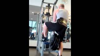 Dip with 160lbs hanging. I weigh 160lbs.