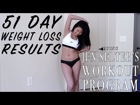 My 51 Day Body Transformation using JEN SELTER Workouts | Fitness & Weight Loss Journey