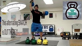 Even Experts Have Difficulty with New Exercises !  Alternating Rotational Kettlebell Snatch