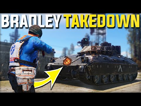 THE CRAZIEST TAKEDOWN OF BRADLEY APC TANK FOR EASY LOOT - Rust Survival Gameplay | S20-E6 thumbnail