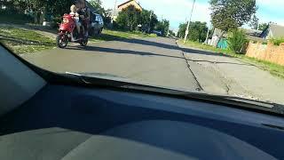 Уроки вождения на механике: троганье под горку