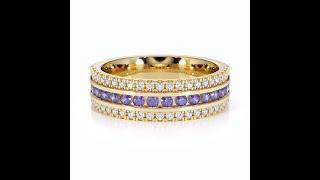 AGnSons YGold Tanzanite Eternity Ring RZ1527