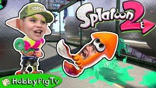 Splatoon 2 Online Team Turf Battle HobbyPigTV