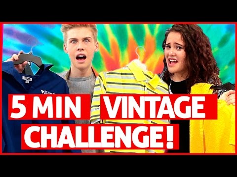 5 Minute Vintage Shopping Challenge?!  Vintage Revamp w Ayydubs and Aidan Alexander