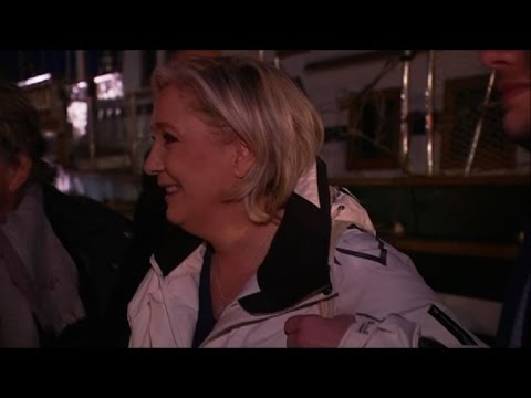 Marine Le Pen meets fishermen in Southern France