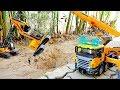 [30분] 포크레인 덤프트럭 구출놀이 중장비 자동차 장난감 모래놀이 Excavator Truck Car Toy Rescue Play