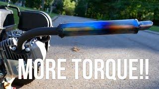 simple exhaust diy for go kart minibike under 10