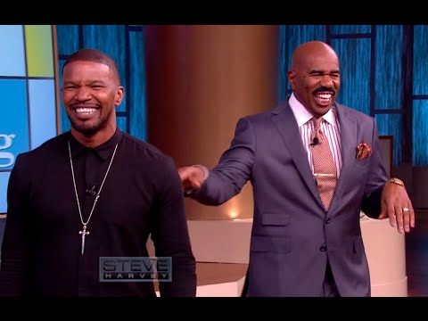 Hilarious pick-up lines with Jamie Foxx || STEVE HARVEY