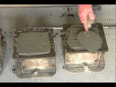 TEST FOR COMPRESSIVE STRENGTH  OF CONCRETE-  CUBE CASTING