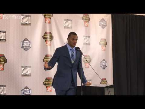 Clemson QB Deshaun Watson discusses winning the Davey O
