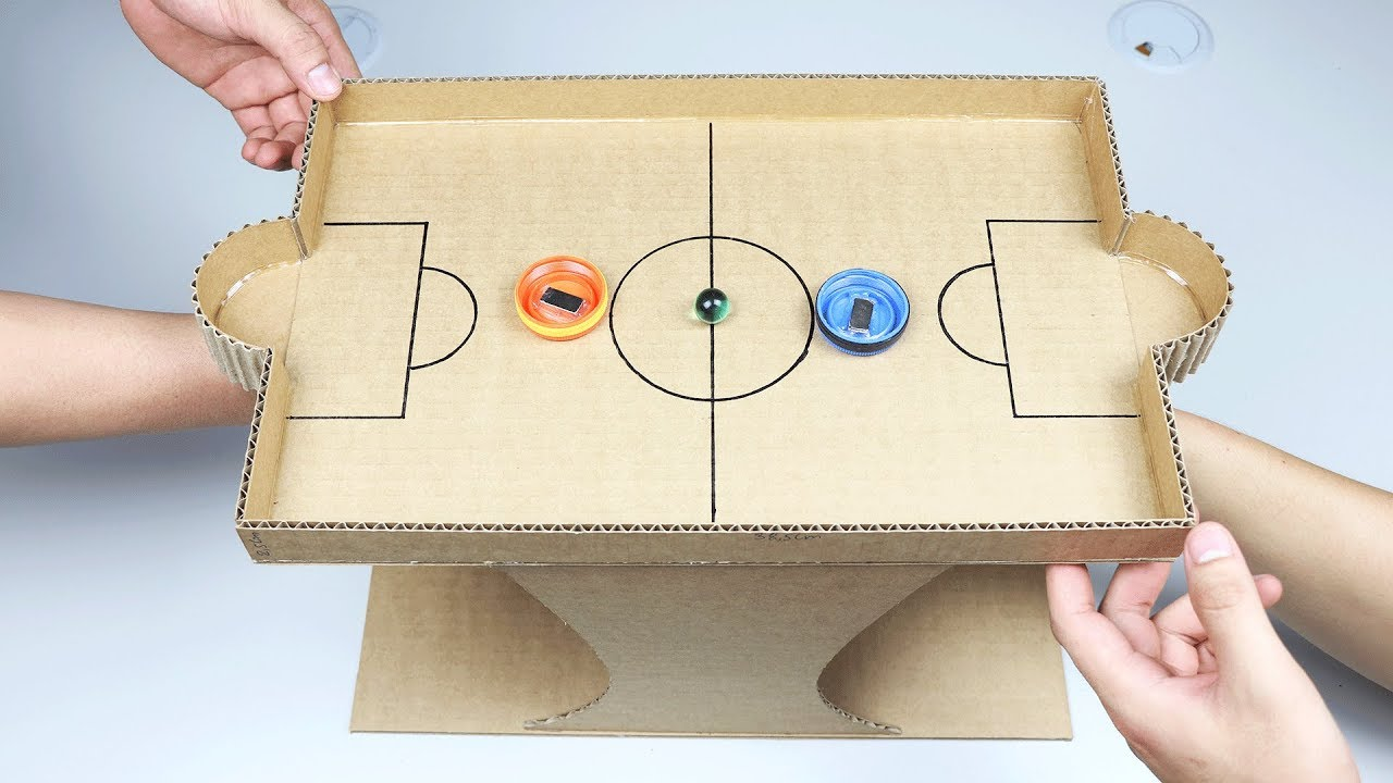 Nice Cardboard Games Part - 5: How To Make Marble Desktop Game From Cardboard