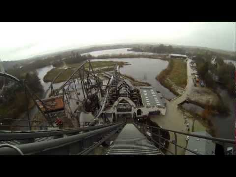 Thorpe Park - The Swarm Brave it Backwards on ride POV Ultra HD 2.7k
