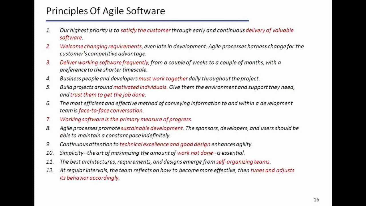 Explain the Principles of Agile Software - YouTube