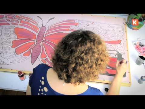Curso online de Pintura em seda: criando asas