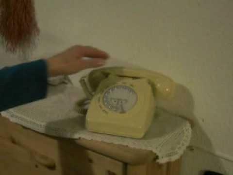 Retro Telefon mit Tasten Wahlscheibe