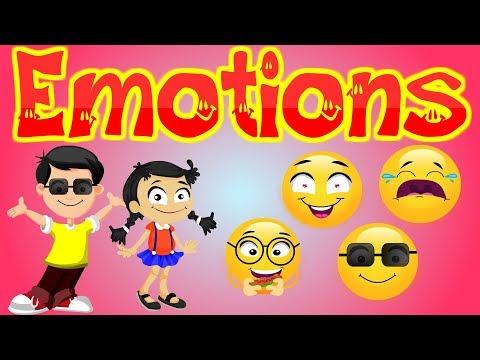 20 Feelings And Emotions For Kids |  Emoji Videos For Preschool |  Kid2teentv