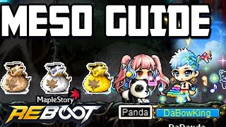 How To Farm Mesos In Reboot [Maple Story]