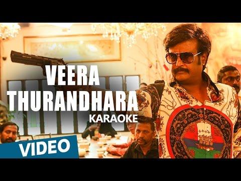 Kabali Songs   Veera Thurandhara Song Karaoke   Rajinikanth   Pa Ranjith   Santhosh Narayanan