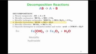 Predicting Products for Decomposition Reactions
