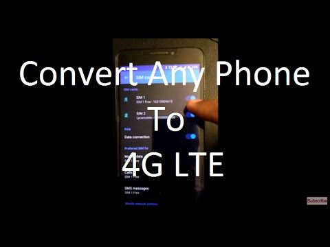 Convert Any 2G/3G Phone to 4G LTE Phone For Reliance Jio/T-Mobile/AT&T [Solved]