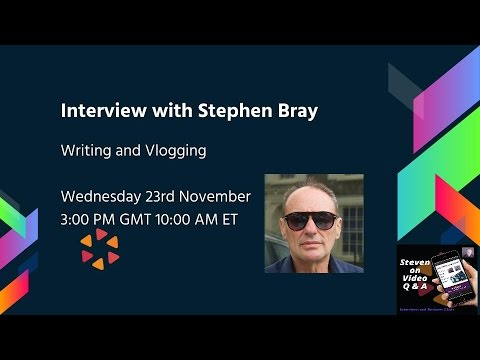 Writing and Vlogging with Stephen Bray and Steven on Belive.tv  #LVS17